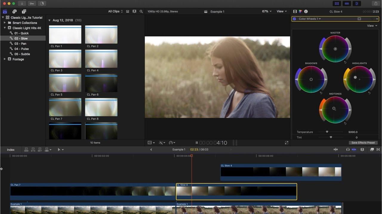 TUTORIAL - Adding Classic Light Hits 4K in Final Cut Pro X