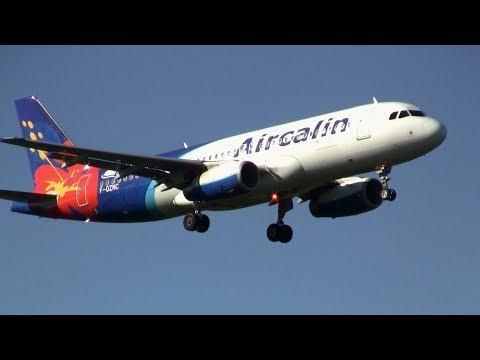Aircalin ► Airbus A320-200 ► Landing ✈ Auckland Airport