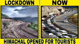 Heavy Traffic On HIMACHAL Opening After Lockdown - Shimla Highway Opened