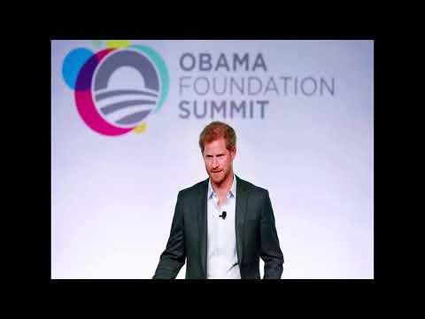 News! Emotional Harry recalls his mum Diana at the Obama Foundation Summit