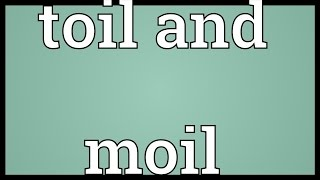 Toil And Moil Meaning