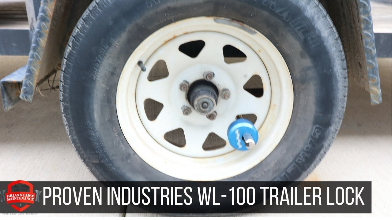 Proven Industries WL-100 Utility Trailer Wheel Lock Overview