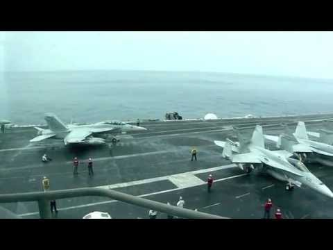 Flight ops on the USS Abraham Lincoln