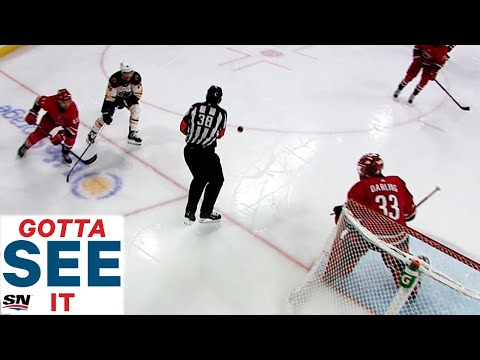 GOTTA SEE IT: Puck Bounces Off Referee Into The Net But Goal Doesn't Count For Bruins