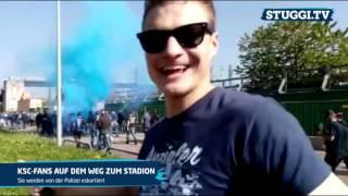 So aufgeheizt ist die Stimmung beim Derby VfB - KSC