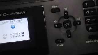 MFC-J430W Wireless setup