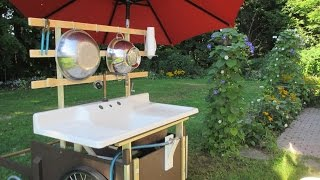 Outdoor Sink... with a Whizbang Toe-Tapper faucet switch!