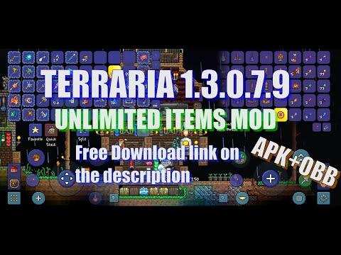 Terraria 1 2 12785 Dev mode+All items map free download APK&OBB  (link on description)