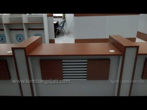 Meja Customer Service | Meja CS | Meja Resepsionis | Custom Office Furniture Semarang