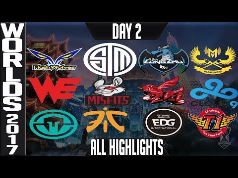 World Championship 2017 Highlights ALL GAMES Day 2 Groups - ALL Kills & Objectives Day 2 Worlds 2017