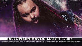 WWE 2K Universe Mode Halloween Havoc Match Card