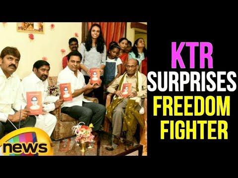 KTR Surprises Freedom Fighter On His Birthday | KTR Latest Speech | News Updates | Mango News