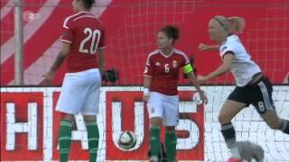 Frauenfussball EM 2017 Qualifikation Deutschland   Ungarn 1  Halbzeit