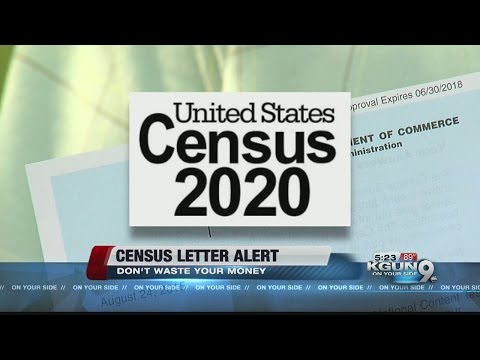 People receiving letter from U.S. Census Bureau during non-census year