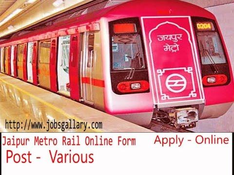 Jaipur Metro Rail Various Post Online Form, Last Date- 31.03.2017