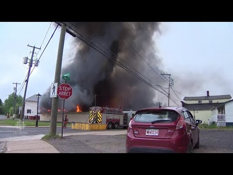 Fire destroys Minto, N.B's only grocery store