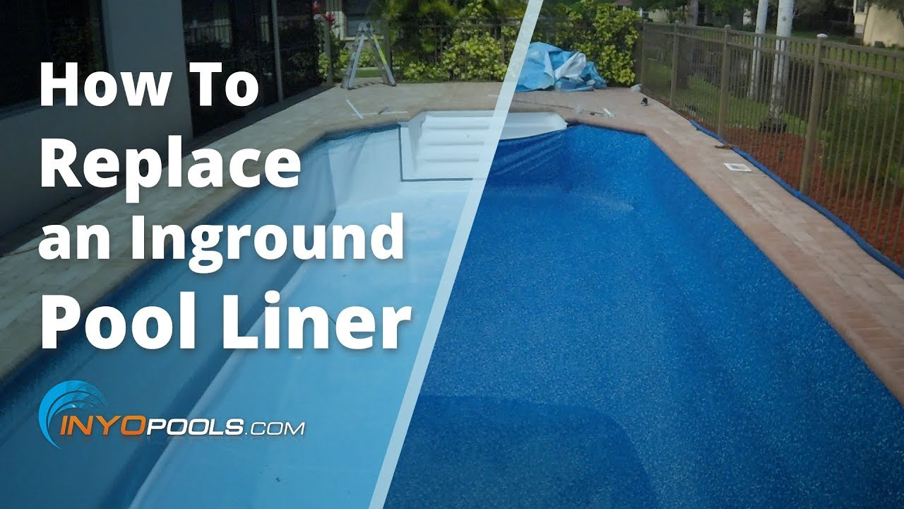 How To Replace An Inground Pool Liner Youtube