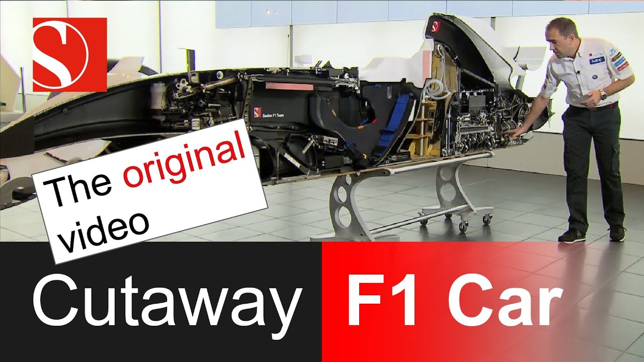 Cutaway F1 Race Car The Original Video Sauber F1 Team