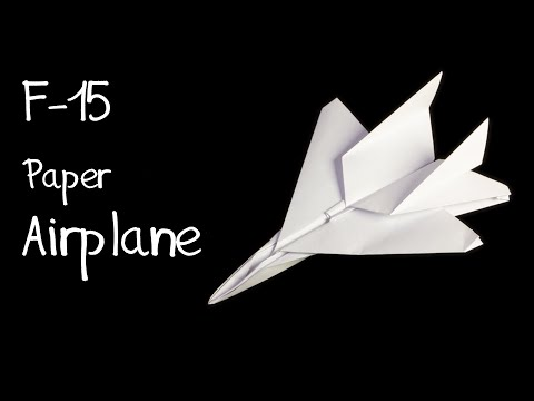 Papercraft How to make an F15 Eagle Jet Fighter Paper Plane (Tadashi Mori)
