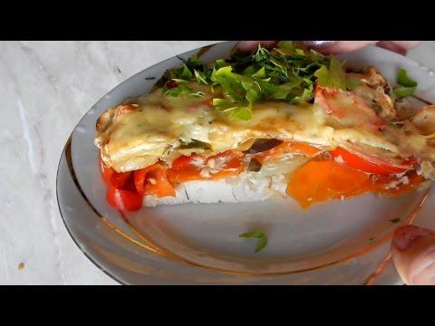 Куриная грудка запечённая с овощами в духовке   рецепты