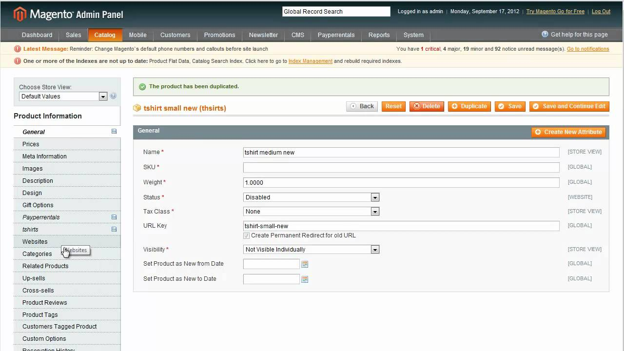 Magento Product Attributes & Configurable Products Rental Software System