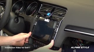 Alpine X901D-G7 for Golf 7 installation thumbnail