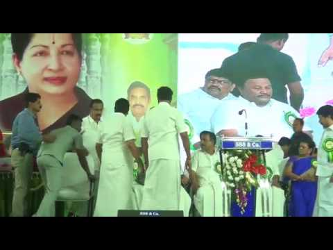 ADMK MLAs fight on stage at event in Tiruppur