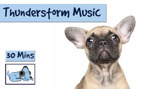 Music to Help Calm Dogs During Thunderstorms. Music for Dogs Scared of Storms