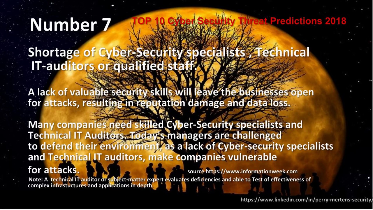 TOP 10 Cyber Security Threat Predictions 2018