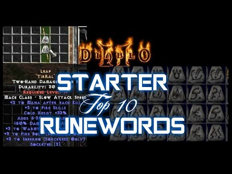 Top 10 Starter Runewords - Diablo 2