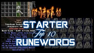 Top 10 Starter Runewords - Diablo 2