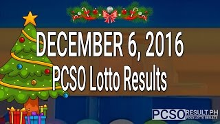 PCSO Lotto Results December 6, 2016 (6/49, 6/42, 6D, Swertres & EZ2)