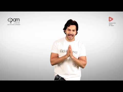 Varun Dhawan saying no to piracy!