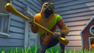"NEW DOGÃO SKIN! EPIC COSTUME ""DOGUINIUM"" AND PICKAXE ""BITING TOY""! Fortnite"
