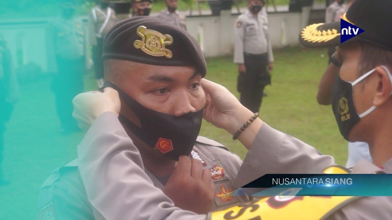 Polres Seram Bagian Barat Berangkatkan Pasukan Amankan Pilkada
