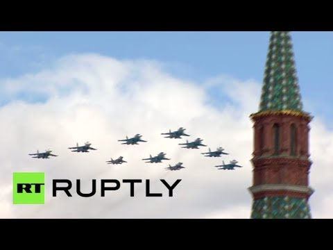 Video: Fighter jets, helicopters fly over Moscow for Victory Day rehearsal