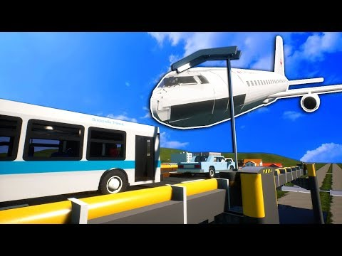 Massive Plane Crashes into Bridge Full of Cars! - Brick Rigs Gameplay |