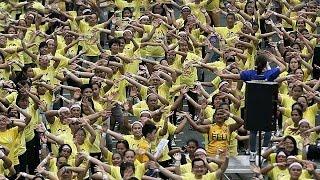 الفلبين تدخل موسوعة غينيس بتنظيم اكبر حصة لرقصة الزومبا   19-7-2015