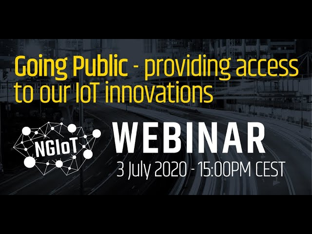 Going Public - providing access to our IoT innovations