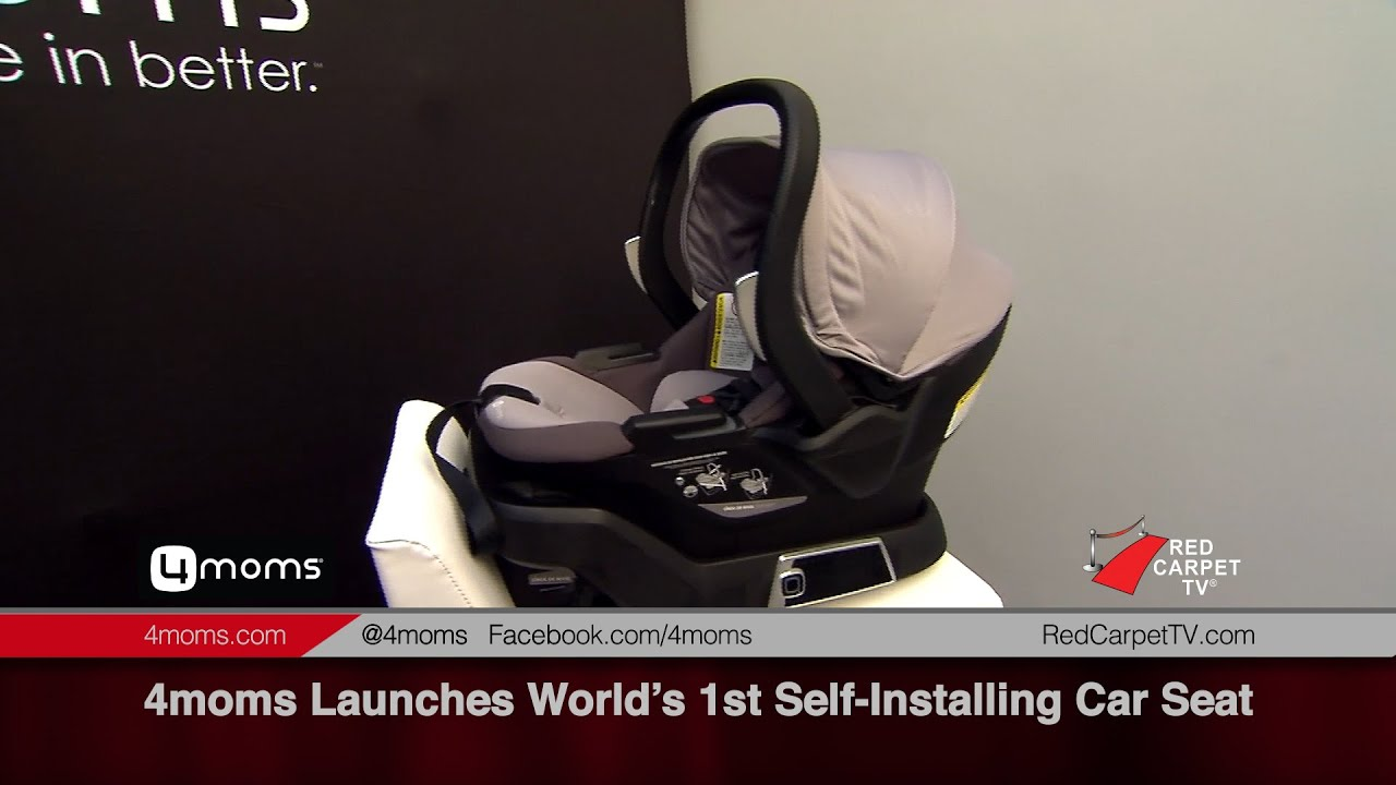 4moms Introduces World\'s 1st Self-Installing Car Seat - YouTube
