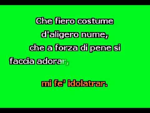 """Che fiero costume (G-)"" by G. Legrenzi Karaoke Accompaniment"
