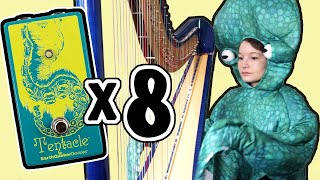 Playing Through 8 Tentacle Pedals in an Octopus Costume | EarthQuaker Devices Harp Demo