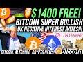 GET $1400 FREE!!! Bitcoin IS SUPER BULLISH!!! UK NEGATIVE ...