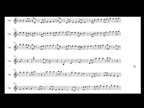 He's a pirate violin sheet music (Hans Zimmer)