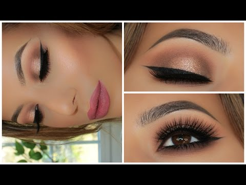 Soft Smokey Glitter Eye – Full Face Tutorial
