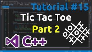 C++ Tutorial 15 - Making simple Tic Tac Toe game (Part 2)