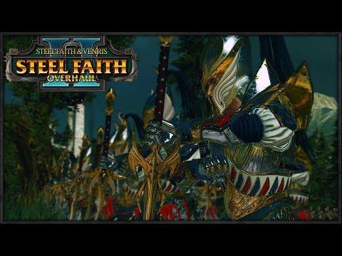 Heroic Last Stand in Defense of Ulthuan - Steel Faith Overhaul II 1v1 Total War Warhammer 2