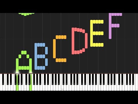 Play the Alphabet with the Piano Synthesia