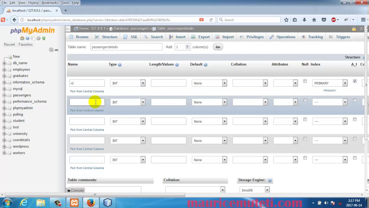 Insert Data Into Table In Mysql Using Java Inserting records