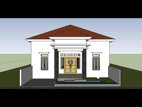 contoh terbaru inspirasi model rumah modern 4 kamar tidur